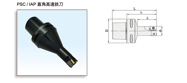 High Speed Right-Angle Throw-Away Type End Mill Cutters