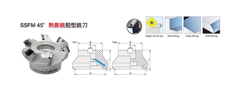 SSFM45° Shrink Fit Face Milling Cutter