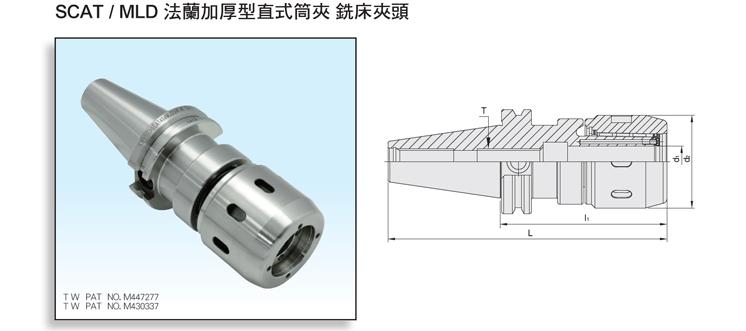 DualDRIVE+ SCAT/MLD Multi-Lock Milling Chuck