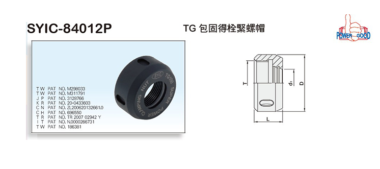 Power Good TG Clamping Nuts