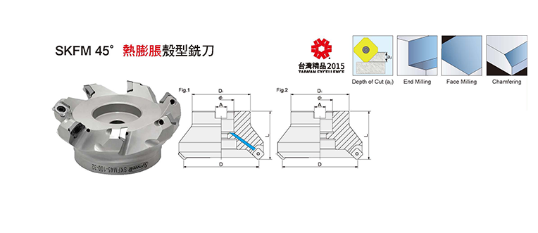 SKFM45° Shrink Fit Face Milling Cutter
