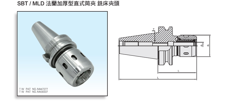 DualDRIVE+ SBT/MLD Multi-Lock Milling Chuck